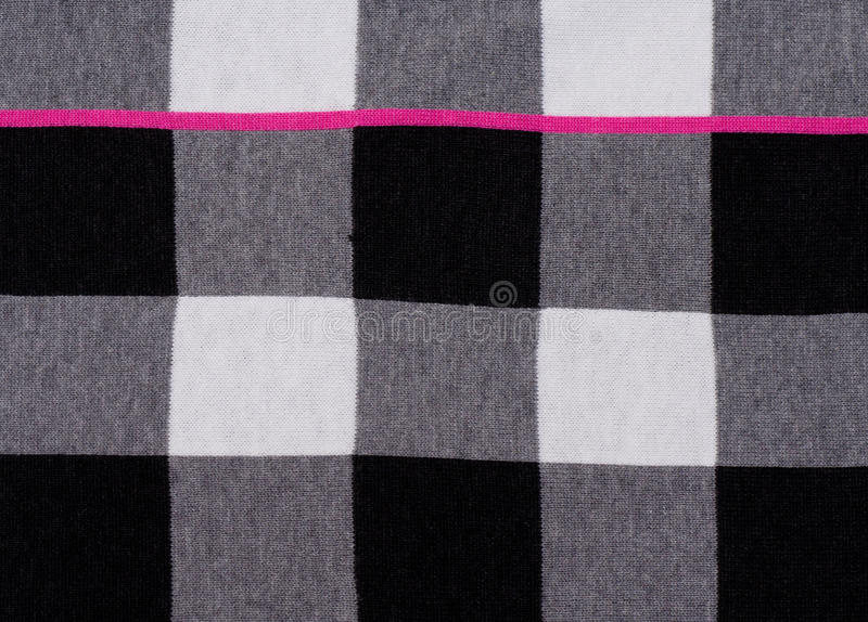 Pattern. Pink, white, black and grey grid cloth pattern royalty free stock image