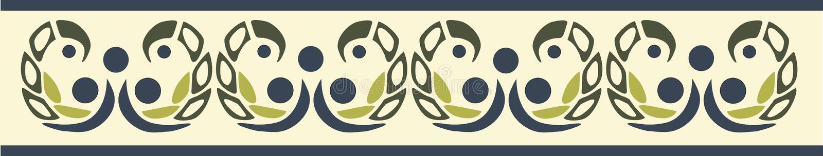 Pattern. Ornamental beige and green pattern royalty free illustration