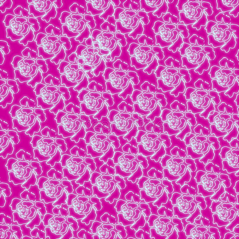 Pattern abstract flower glowing wallpaper decorations decorate seamless royalty free illustration