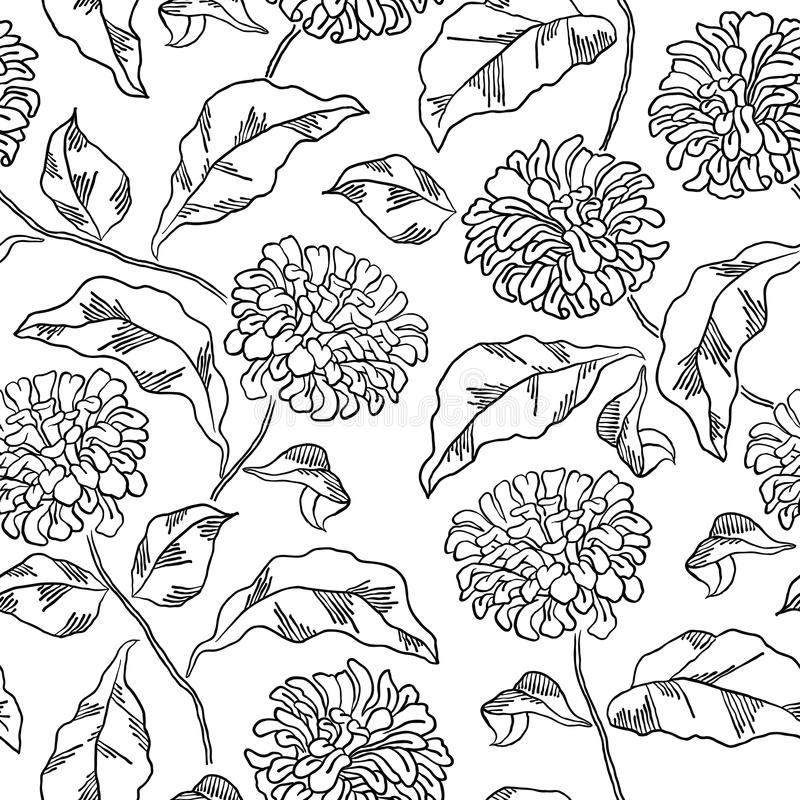 Download Pattern With Abstract Flowers Coloring Book Page Stock Vector