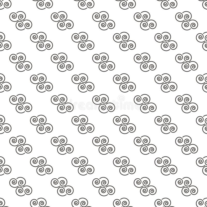 Pattern Abstract Geometric Wallpaper Vector illustration. background. black. on white background. cloud vector illustration