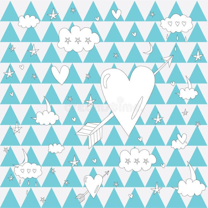 Pattern_3angleheart arkivbilder