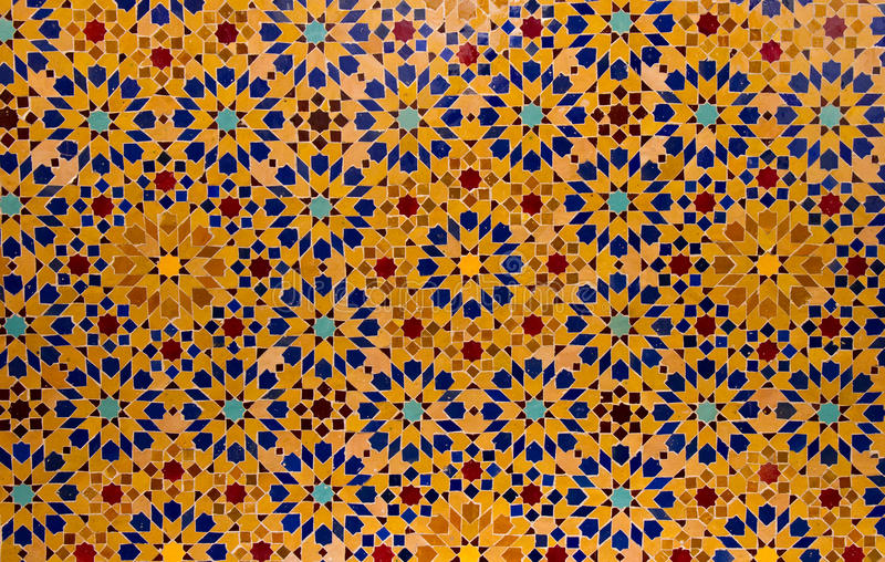 Pattern. Of an Arabic tile floor stock photography