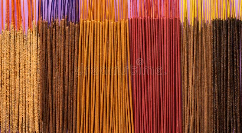Aromatic Incense Sticks. Pattern aromatic sticks. incense colorful background stock image