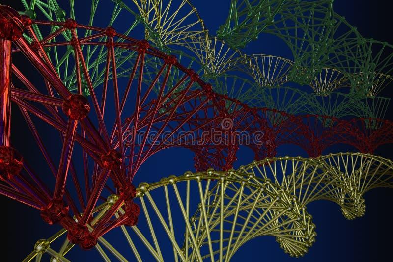 pattern of the array lattice atom stock illustration