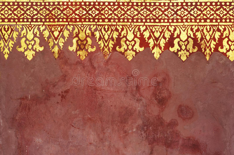 Pattern of art in Asia royalty free stock photo