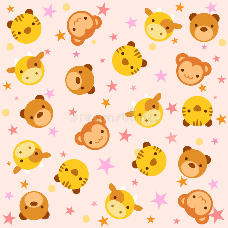 Download Pattern with baby animals stock vector. Image of cartoon - 28904834
