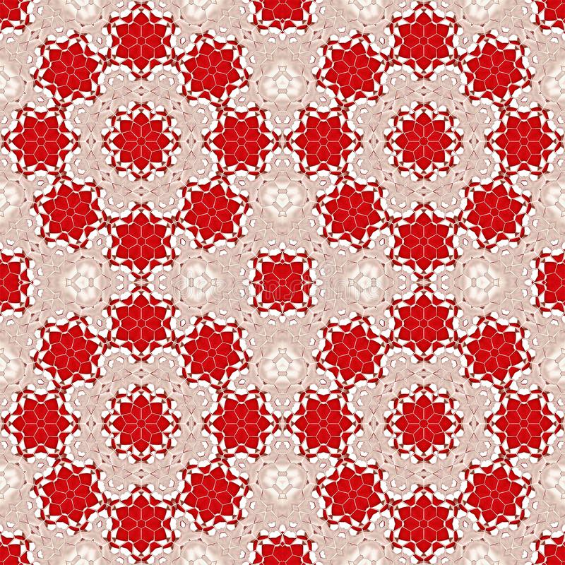 Pattern background abstract red kaleidoscope. geometric wallpape stock illustration