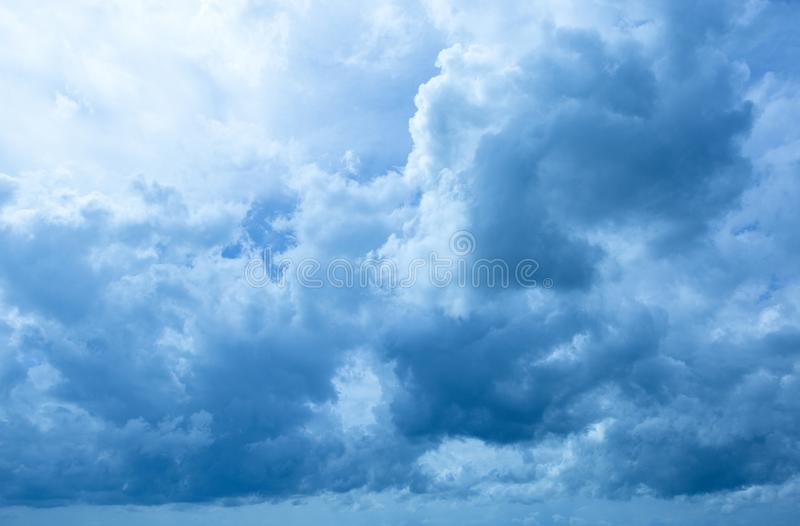 Pattern of blue sky and clouds royalty free stock images