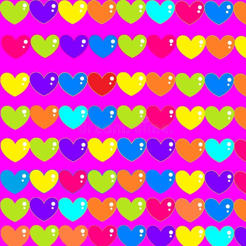 Pattern background hearts shades bright youth. Pattern background hearts shades bright stock illustration