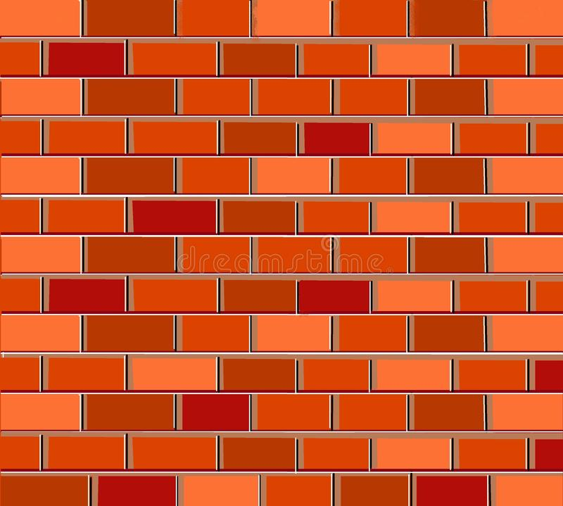 Pattern background texture bricks red brown royalty free illustration