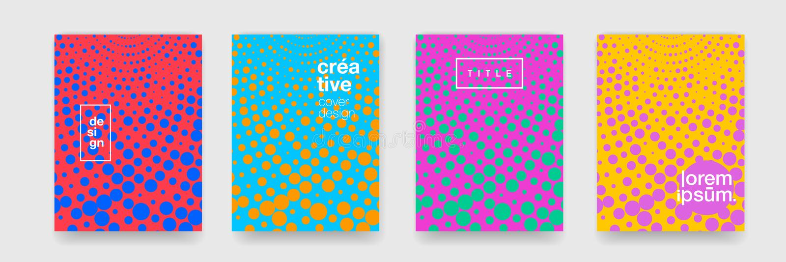 Pattern backgrounds, abstract geometric texture and colorful gradient. Vector creative graphic art and cool modern color pattern stock illustration