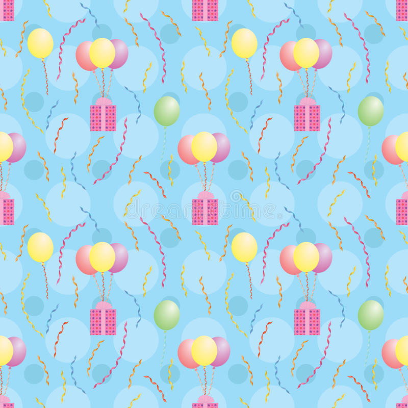 Download Pattern With Balloons Carrying Presents Stock Photography - Image: 29507622