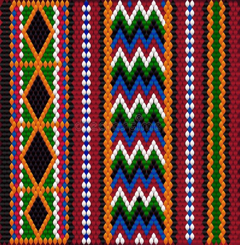 Pattern on Bedouin fabric Sadu2. Pattern on Bedouin fabric Sadu. Colorful, bright, eye-catching, holding a look, inspiring royalty free illustration