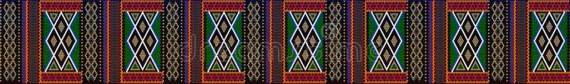 Pattern on Bedouin fabric Sadu4. Pattern on Bedouin fabric Sadu. Colorful, bright, eye-catching, holding a look, inspiring stock illustration
