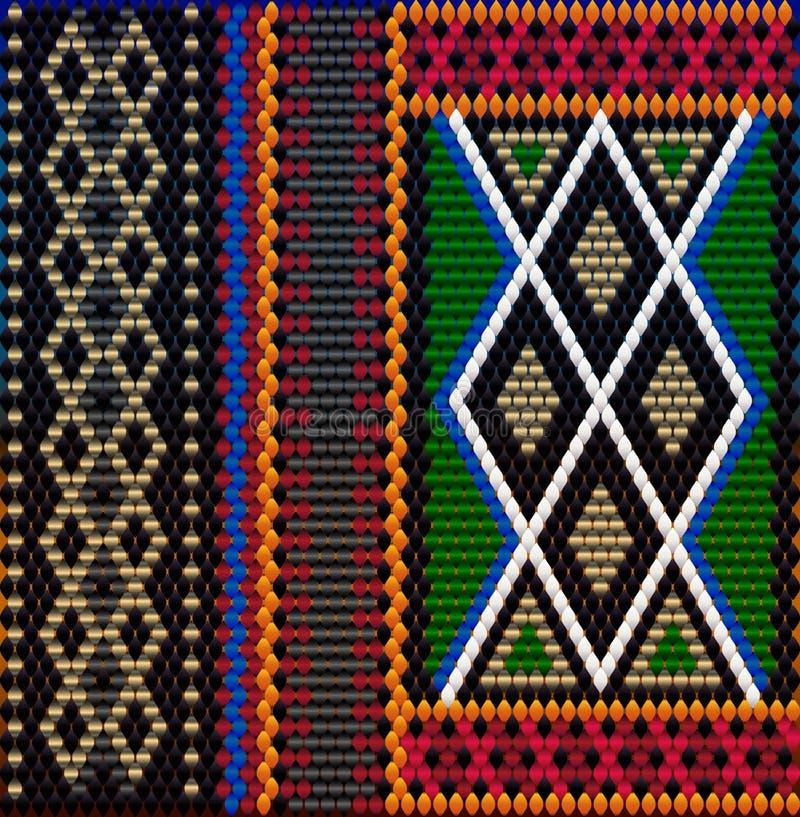 Pattern on Bedouin fabric Sadu3. Pattern on Bedouin fabric Sadu. Colorful, bright, eye-catching, holding a look, inspiring royalty free illustration