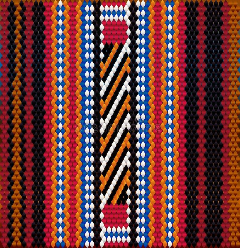 Pattern on Bedouin fabric Sadu1. Pattern on Bedouin fabric Sadu. Colorful, bright, eye-catching, holding a look, inspiring stock illustration