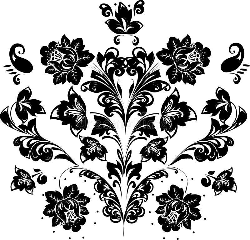 Pattern of black foliage vector illustration