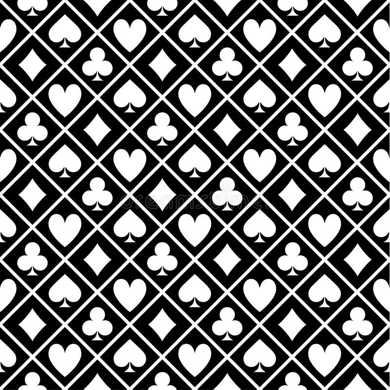 Download Pattern Of Black And White Fabric Poker Table Stock Vector    Image: 83060834