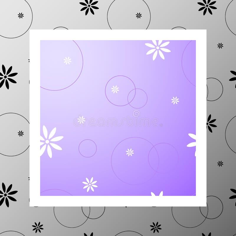 Pattern-014 - blommor stock illustrationer
