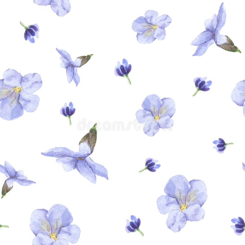 A pattern of blue flowers stock photography