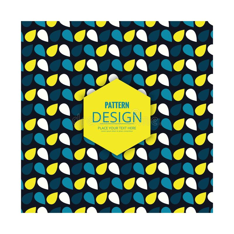 Pattern blue yellow and white color petals vector illustration