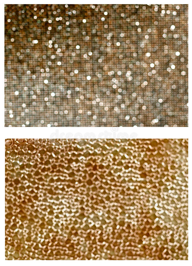 Pattern BOKEH. Gold tissue OUT OF FOCUS stock image