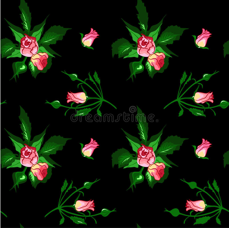 Download Pattern From Bouquets Of Roses. Stock Vector - Illustration: 24093103