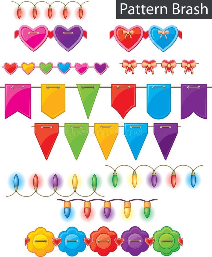 Pattern brash - colored garland royalty free illustration