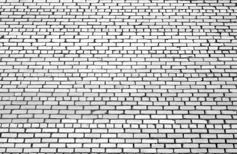 Pattern of brick wall with blur effect in black and white royalty free stock photo