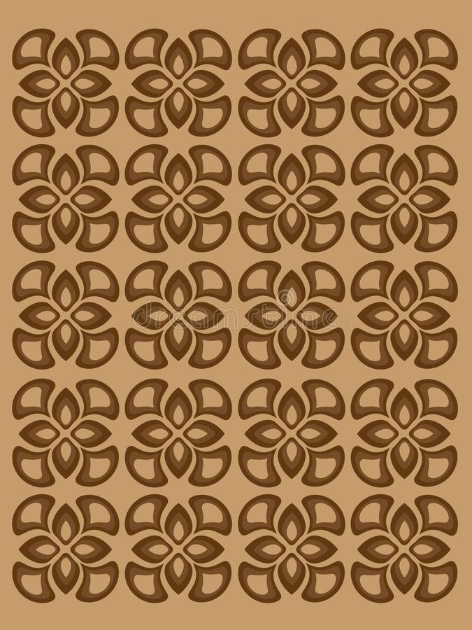 Pattern with brown decorative elements original royalty free illustration