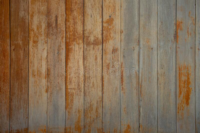 The pattern of brown wood plate used to make parquet for flooring, wall or as table top. Is a pattern that looks old, has been used royalty free stock photos