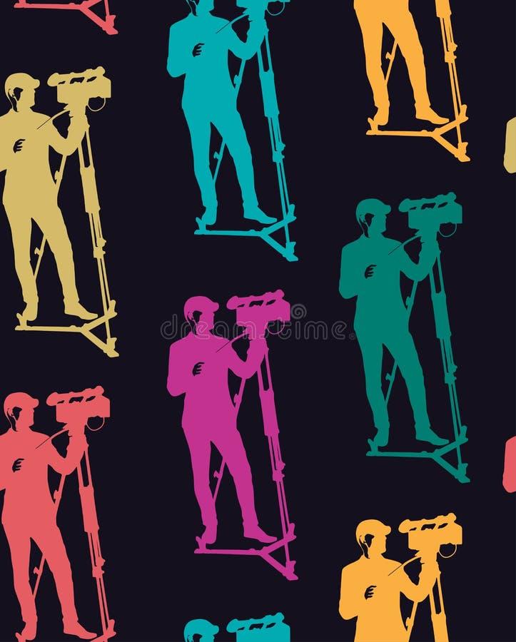Pattern of cameraman vector illustration