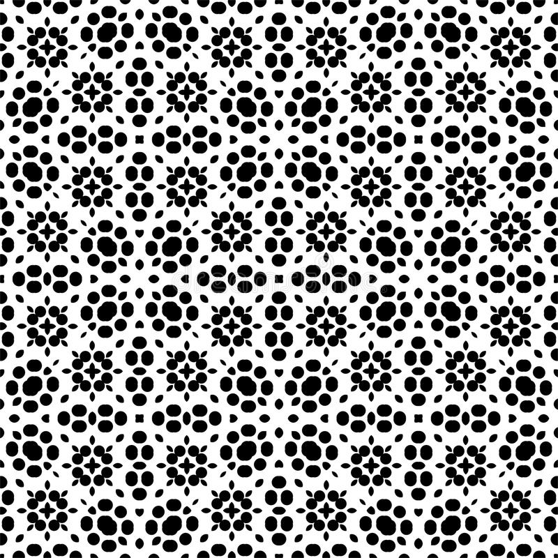 Dot and leaf seamless Pattern in white background vector illustration
