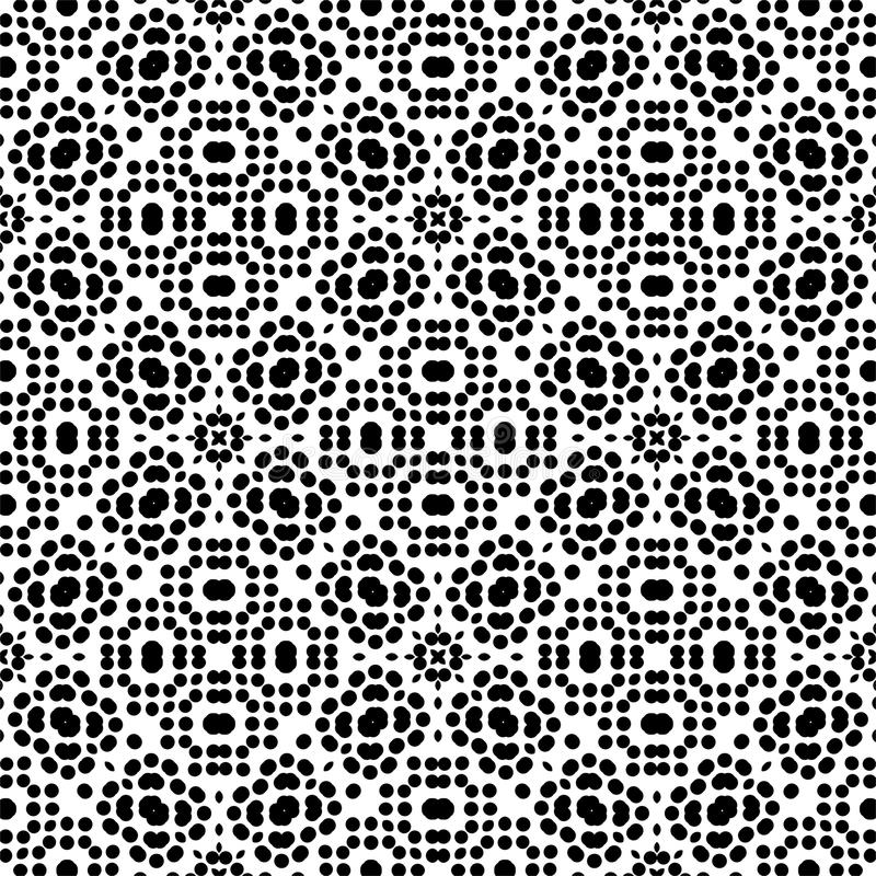 Dot seamless Pattern in white background stock illustration