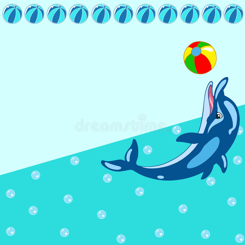 Download Pattern With Cartoon Dolphin Stock Image - Image: 33223541