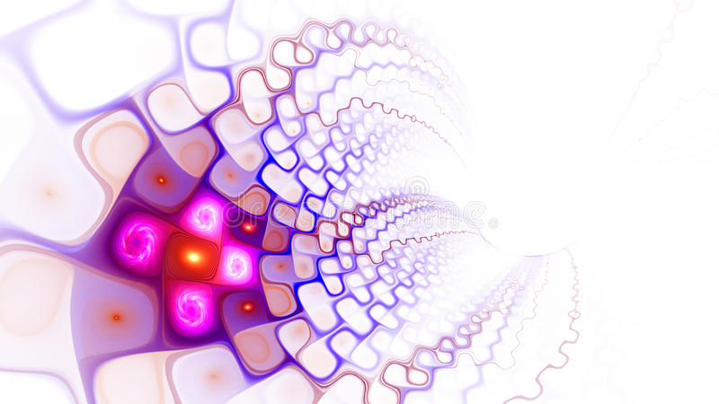 Pattern of cells. World Wide Web. Flow of plasma. 3D surreal illustration. Sacred geometry. Mysterious psychedelic relaxation pattern. Fractal abstract texture stock illustration