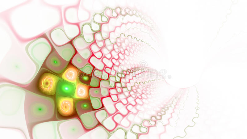Pattern of cells. World Wide Web. Flow of plasma. 3D surreal illustration. Sacred geometry. Mysterious psychedelic relaxation pattern. Fractal abstract texture vector illustration