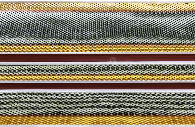 Pattern ceramic of thai temple roof stock image