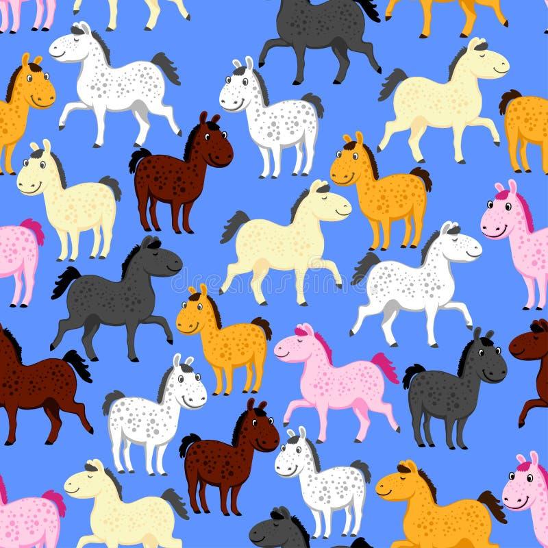 Pony pattern royalty free illustration