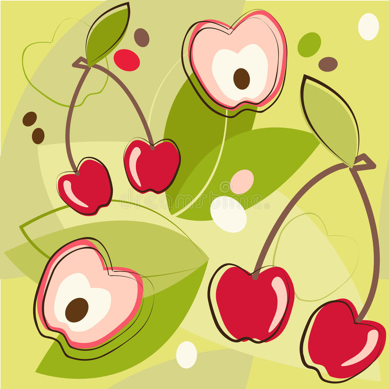 Download Pattern Of Cherry Royalty Free Stock Images - Image: 18597189