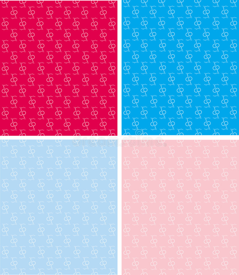 Pattern cherry together stock images