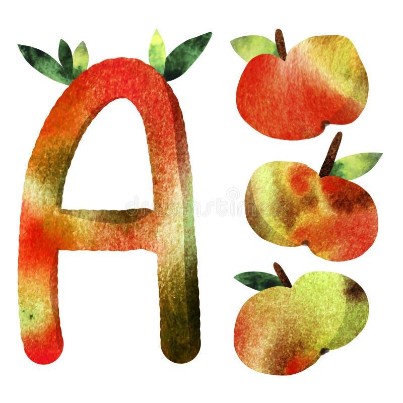 Pattern children`s alphabet letter vector illustration