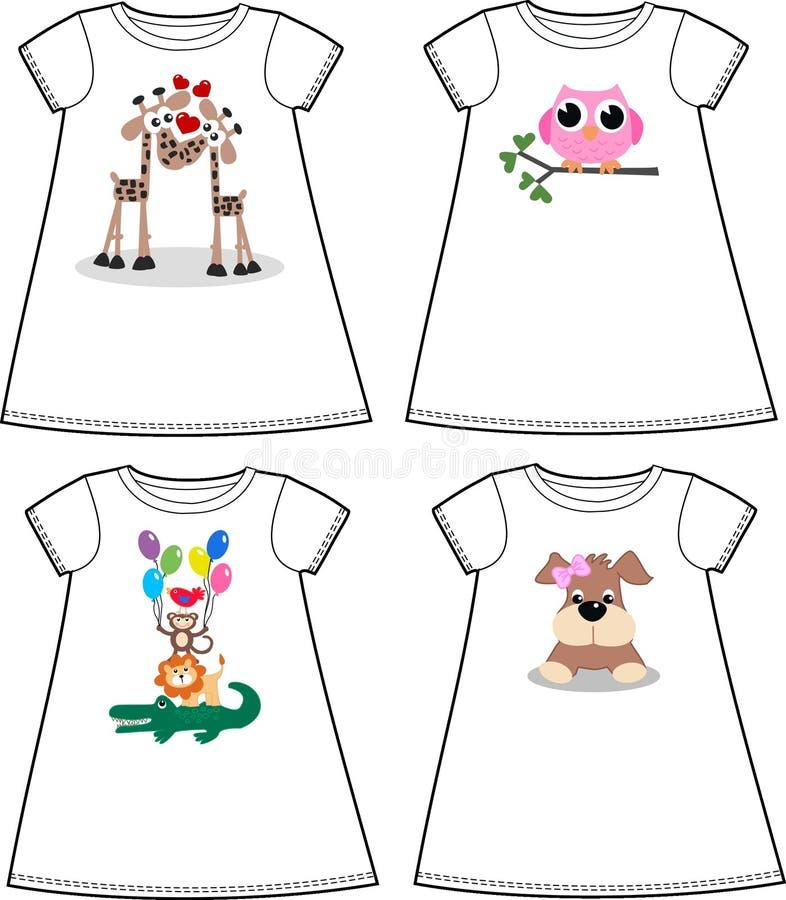 Pattern for children wear fashion. Animal print for children wear fashion industry animals royalty free illustration