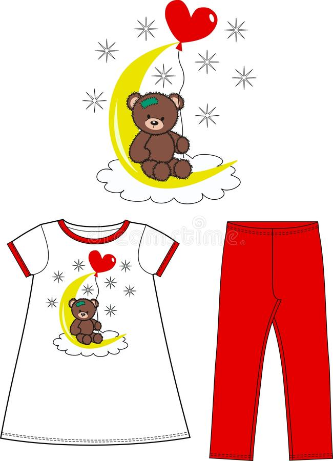 Pattern for children wear stock images