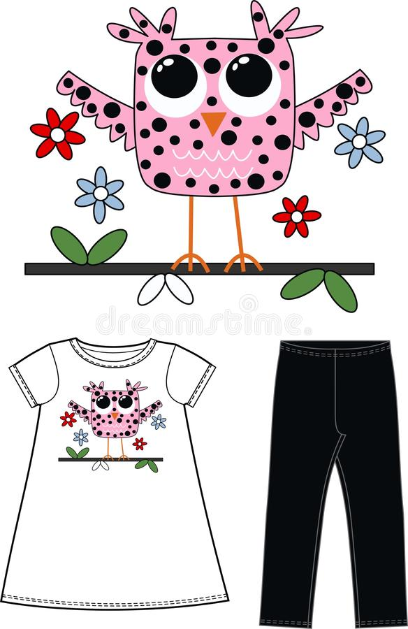 Pattern for childrens wear stock photo