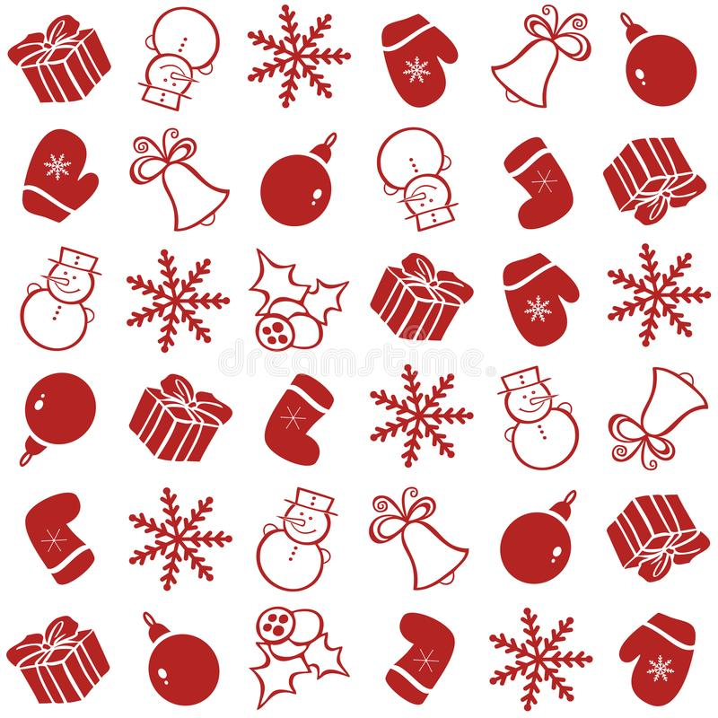 Pattern with Christmas elements for the background. royalty free illustration