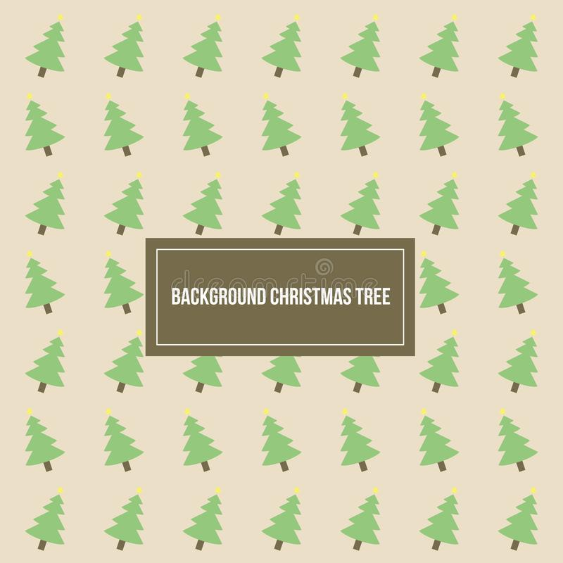 Christmas Tree Pattern Vector Background Template royalty free stock image