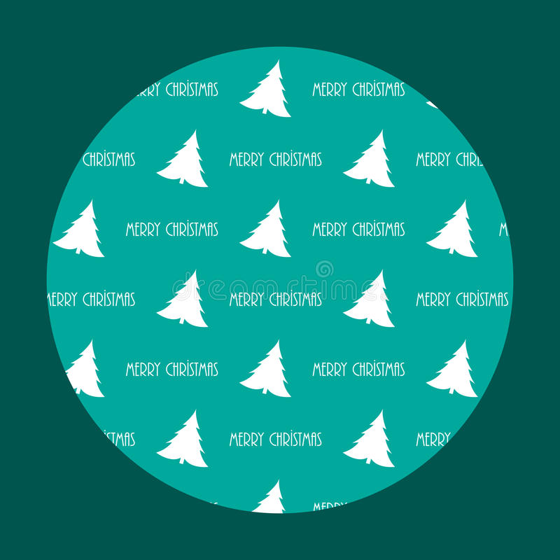 Pattern With Christmas Trees Royalty Free Stock Photos