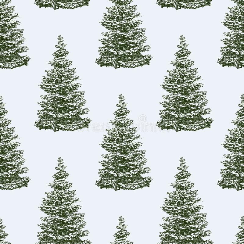 Pattern of the christmas trees vector illustration